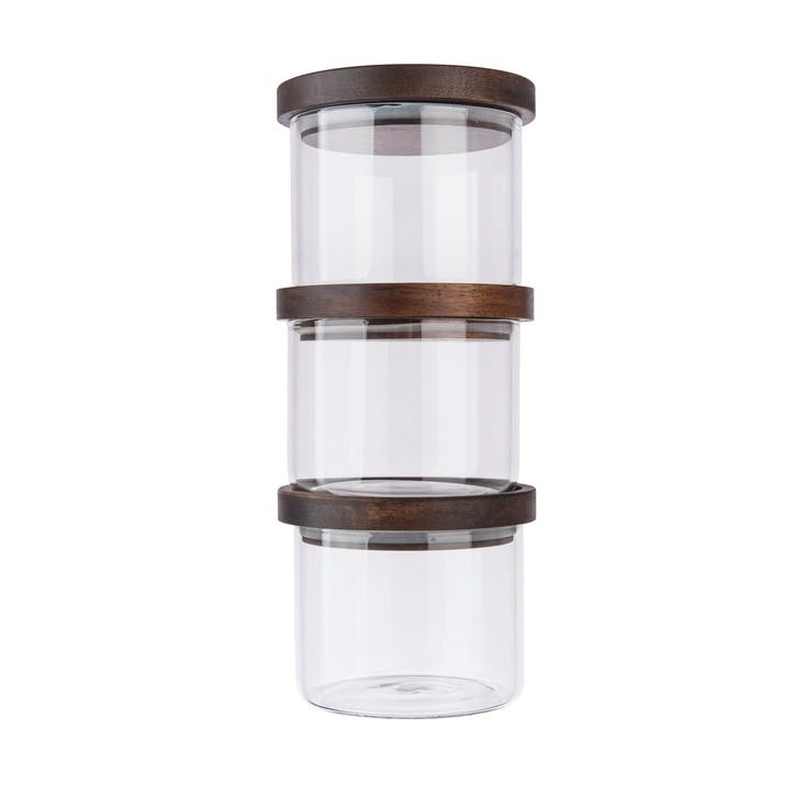 Stackable Glass Storage Jar Set