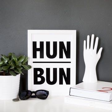 'Hun Bun' Print - 30 x 40cm