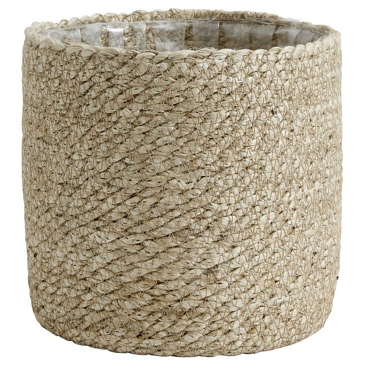 Jute Rope Lined Basket, Medium