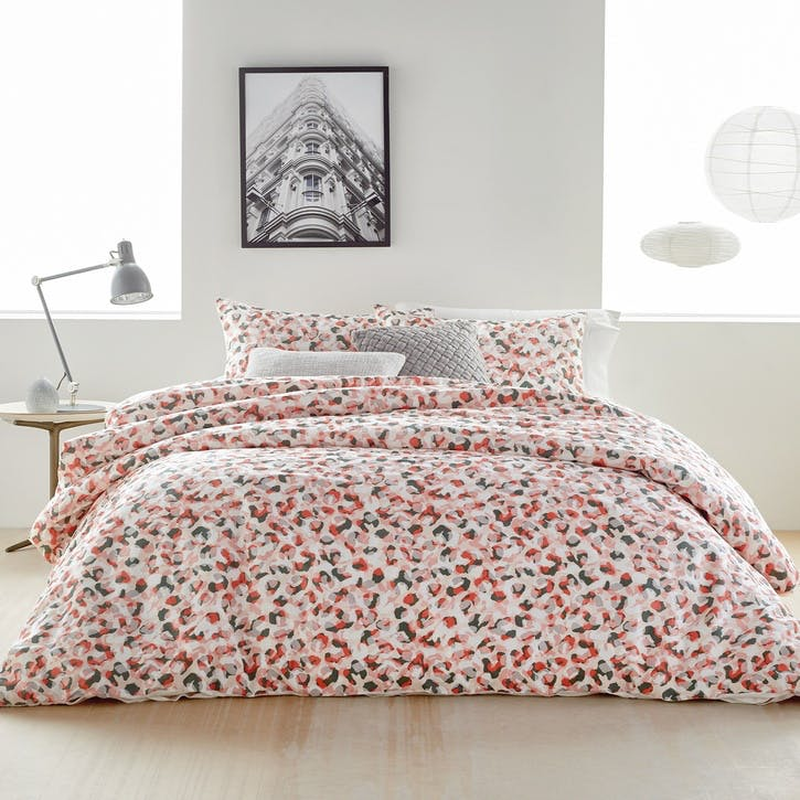 Wild Geo King Duvet Cover, Blush