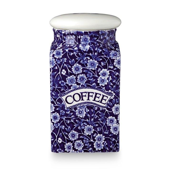 Calico Square Coffee Storage Jar, 18cm, Blue