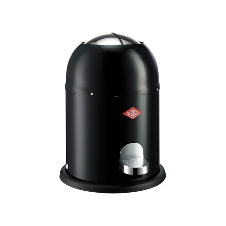 Single Master Bathroom Bin; Black