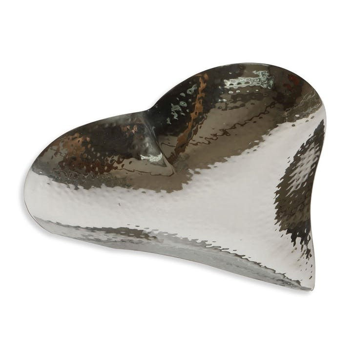 Champagne Hammered Heart Dish - Large