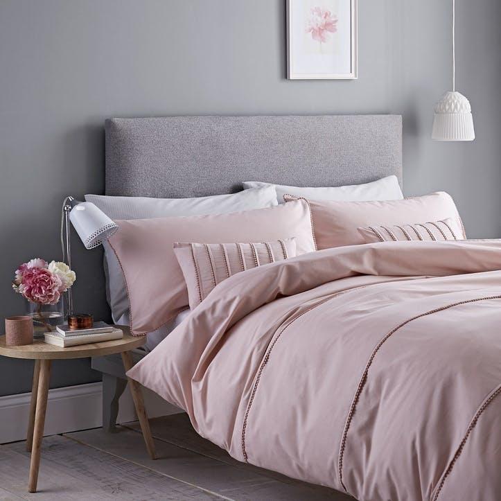 Pom Pom Super King Size Bedding Set, Pink