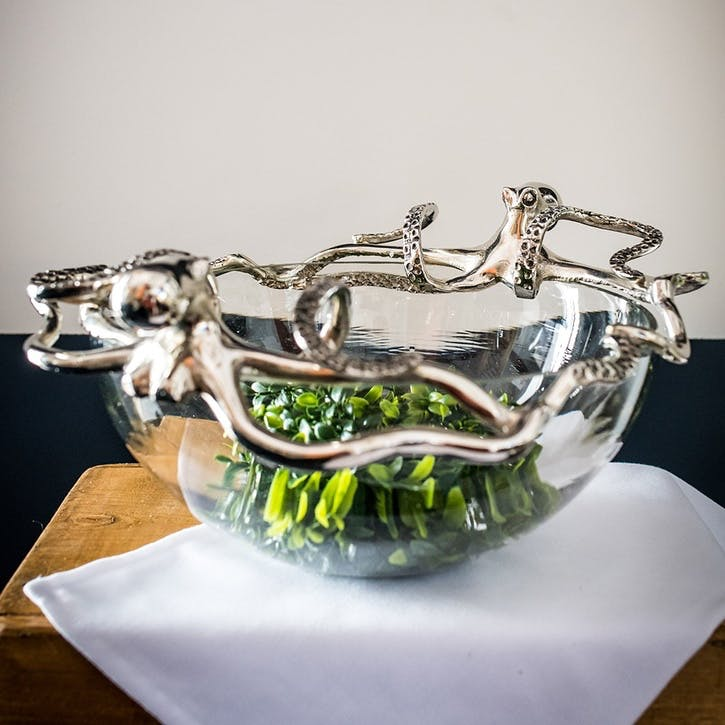 Octopus Glass Bowl - Large