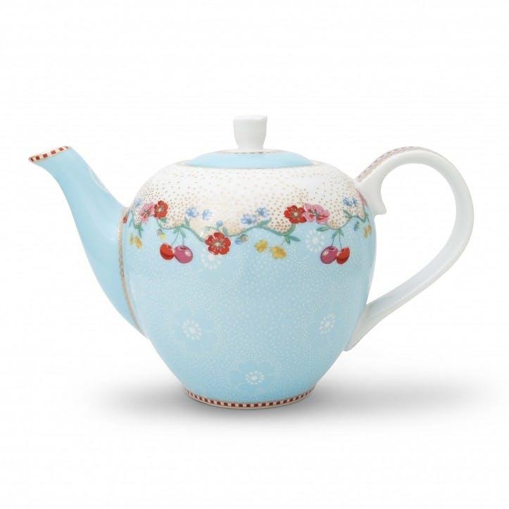 PiP Floral 2.0 Cherry Teapot, Blue