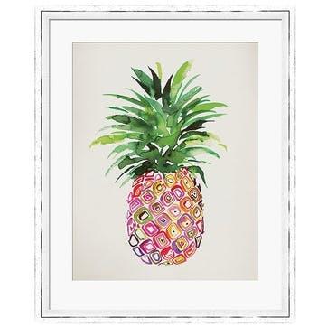 Summer Thornton Pineapple Framed Print, 55 x 45cm
