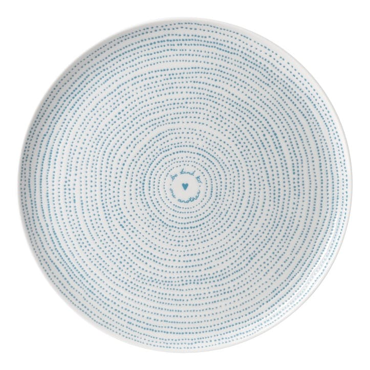 ED Ellen DeGeneres Serving Platter, Polar Blue Dots