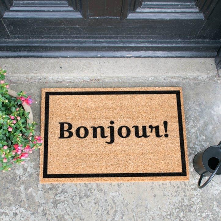 Bonjour with Border Doormat
