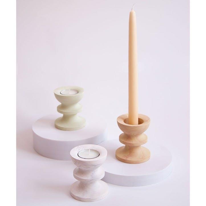 Scala Candle Holder, White Marble