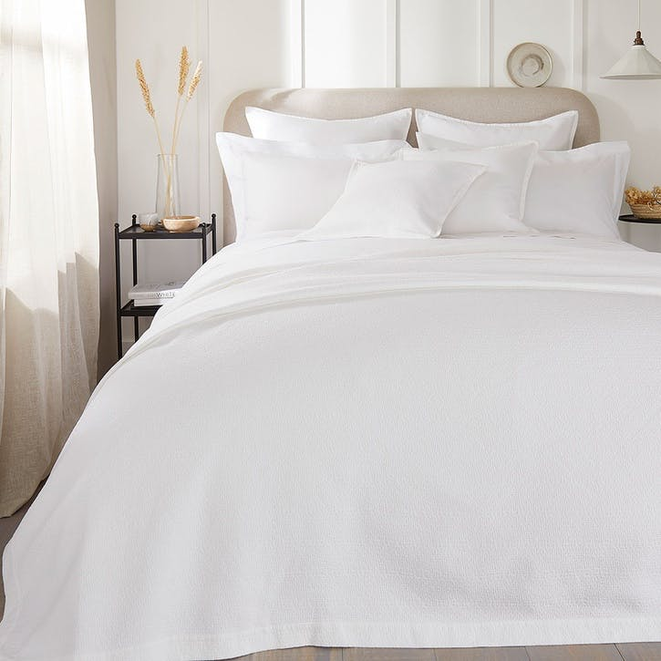 Lisbon, Superking Bedspread, White