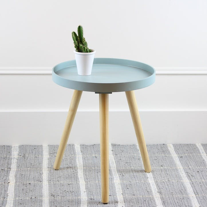 Larsen Side Table, Small, Aqua
