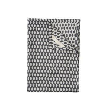 Elca Tea Towel, Linen On Black