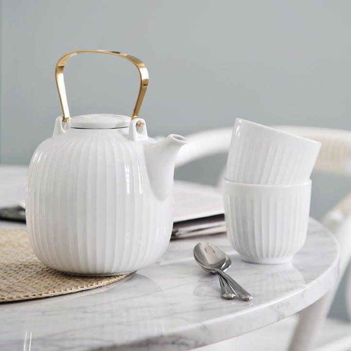 Hammershøi Teapot, White