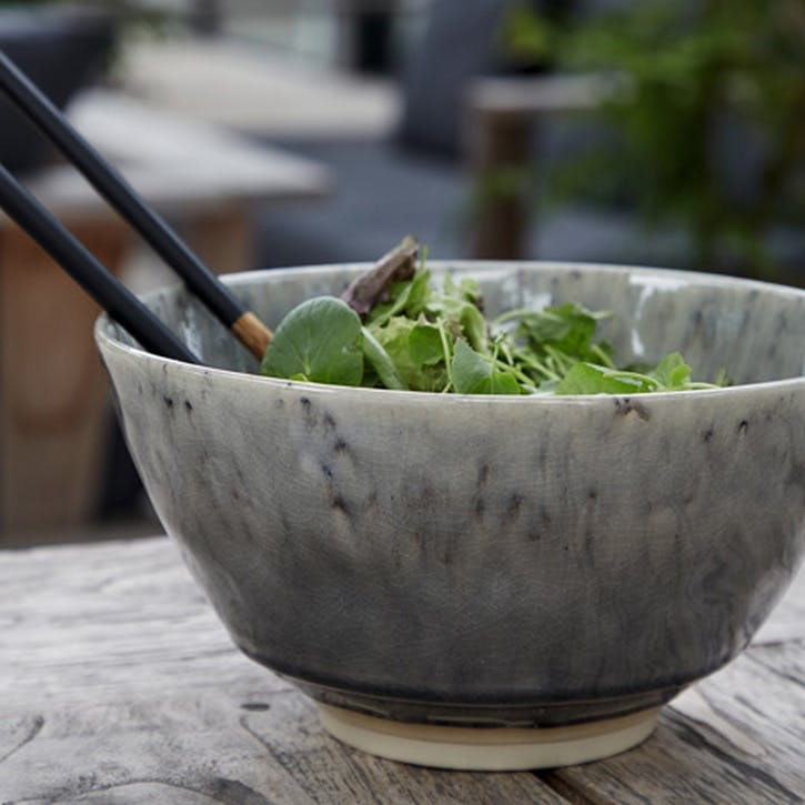 Madeira Grey Serving Bowl