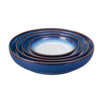 Blue Haze Nesting Bowl Set, 4 Piece