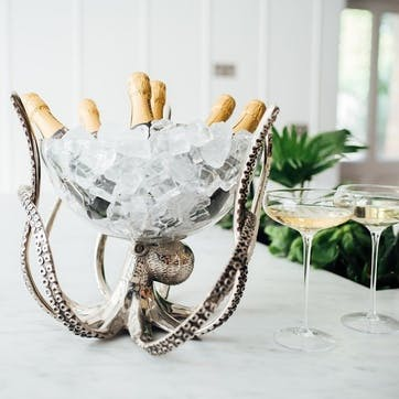 Octopus Stand & Glass Bowl