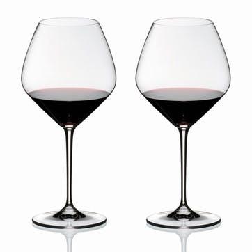 Vinum Pinot Noir (Burgundy Red), Set of 2