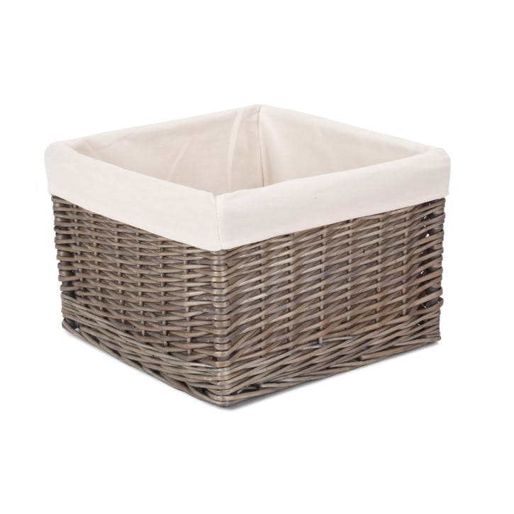 Medium Antique Wash Storage Basket