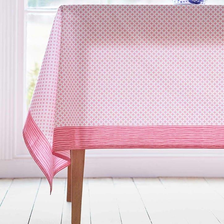 Bougainvillea Hand-Printed Tablecloth