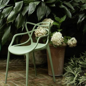 Masters, Pair of Dining Chairs, Sage Green