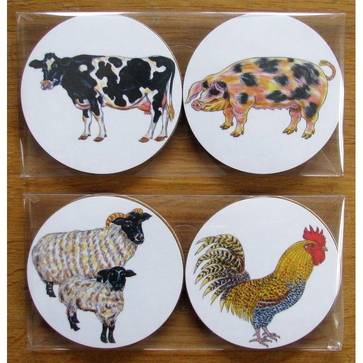 Farmyard Coaster Gift Pack