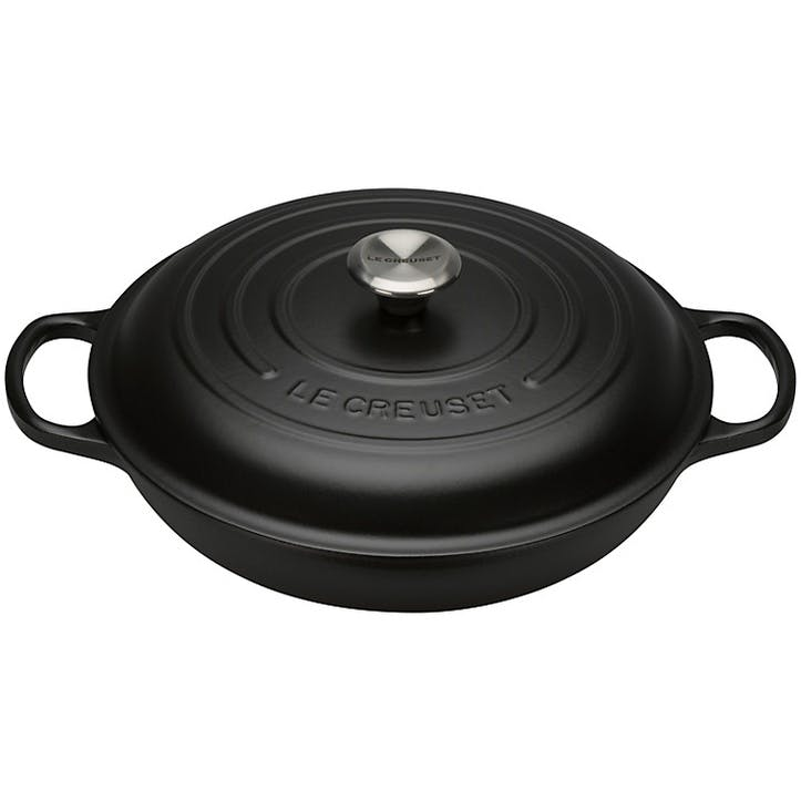 Cast Iron Shallow Casserole - 26cm; Satin Black