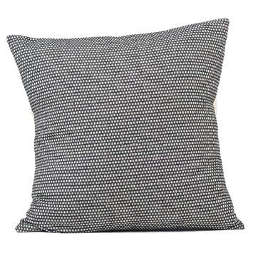 Classic Clarendon Cushion - 60cm; Linen On Black