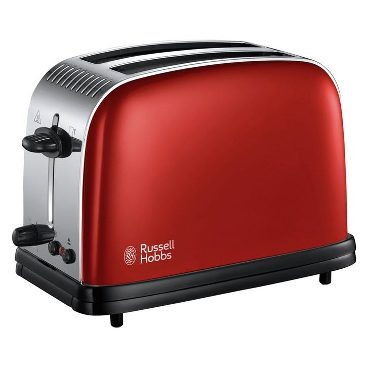 Colours Plus 2 Slice Toaster; Red