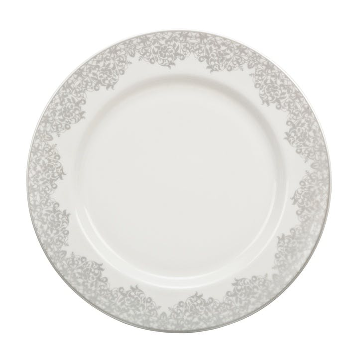 Filigree Silver Dinner Plate, 28cm