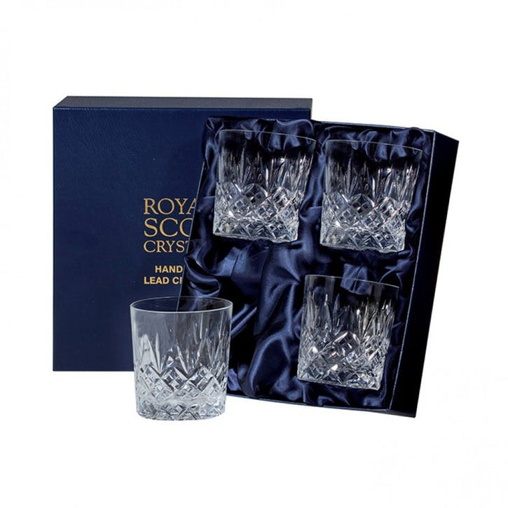 Edinburgh Crystal Large Tumblers, Set of 4