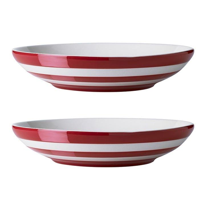 Set Of 2 Pasta Bowls, 24cm, Red