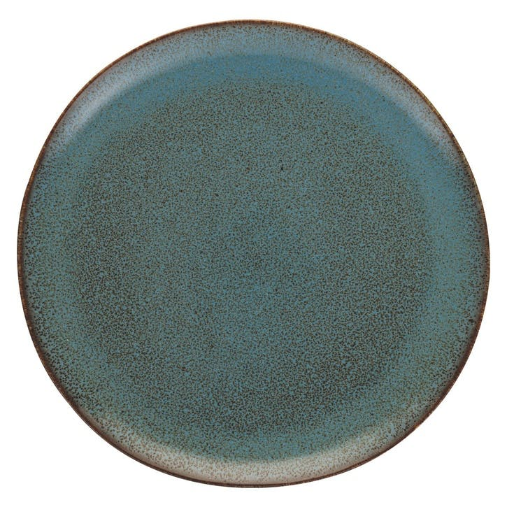 Olmo Dinner Plate, Turquoise