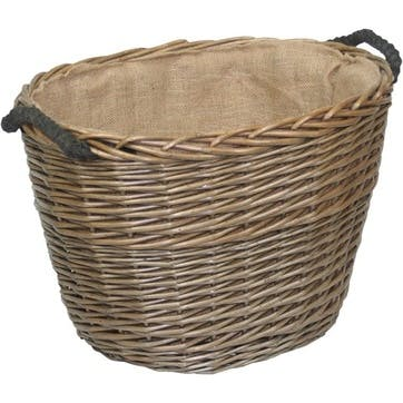 Oval Log Basket, Medium