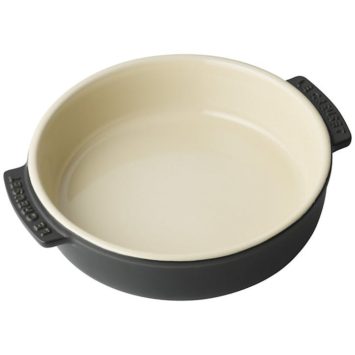 Stoneware Tapas Dish; Satin Black