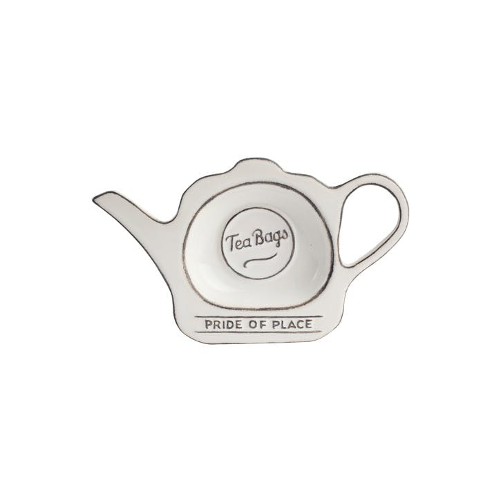 Pride of Place Tea Bag Tidy, White