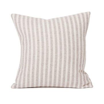 Harbour Stripe Cushion - 40cm; Mushroom & Ecru,