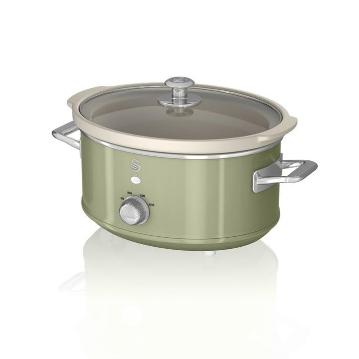 Retro 3.5L Slow Cooker, Green