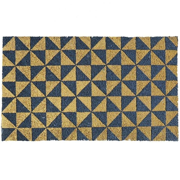Gold Triangles Doormat, 75 x 45cm
