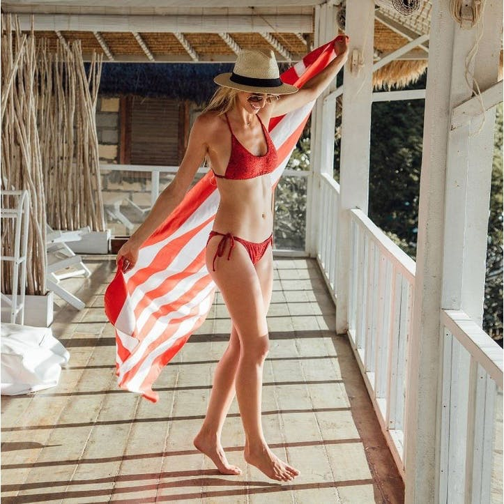 Cabana Beach Towel, Waikiki Coral Extra Large
