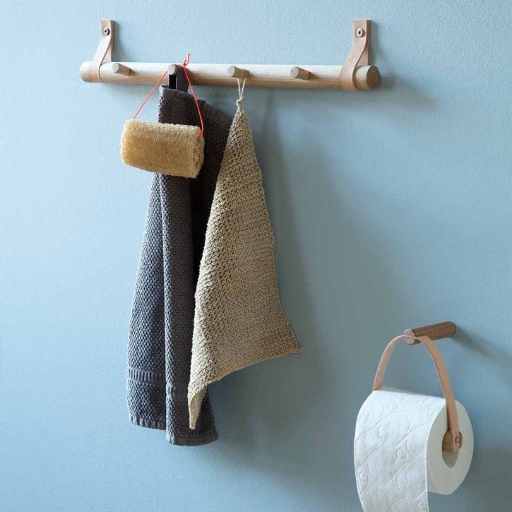 Toilet Paper Holder, Natural Oak