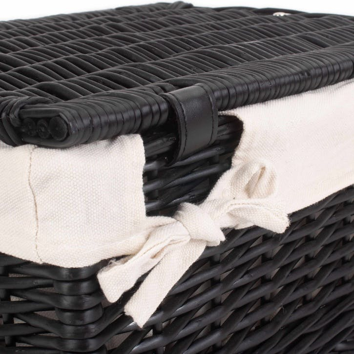 "16"" Black Hamper with White Lining"