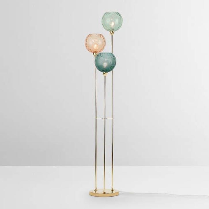Ilaria Floor Lamp Triple, Multicolour & Brass