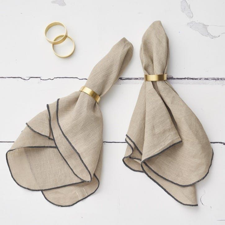 Jewel Linen Napkin; Stone