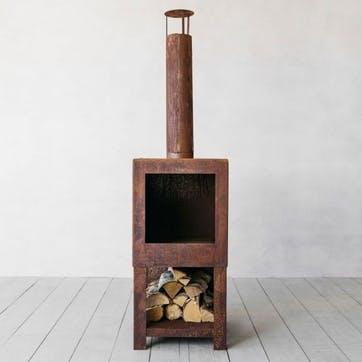 Oxidised Rust Log Burner