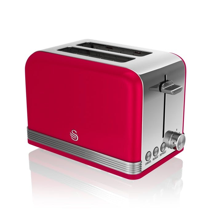 Retro 2-Slice Toaster, Red