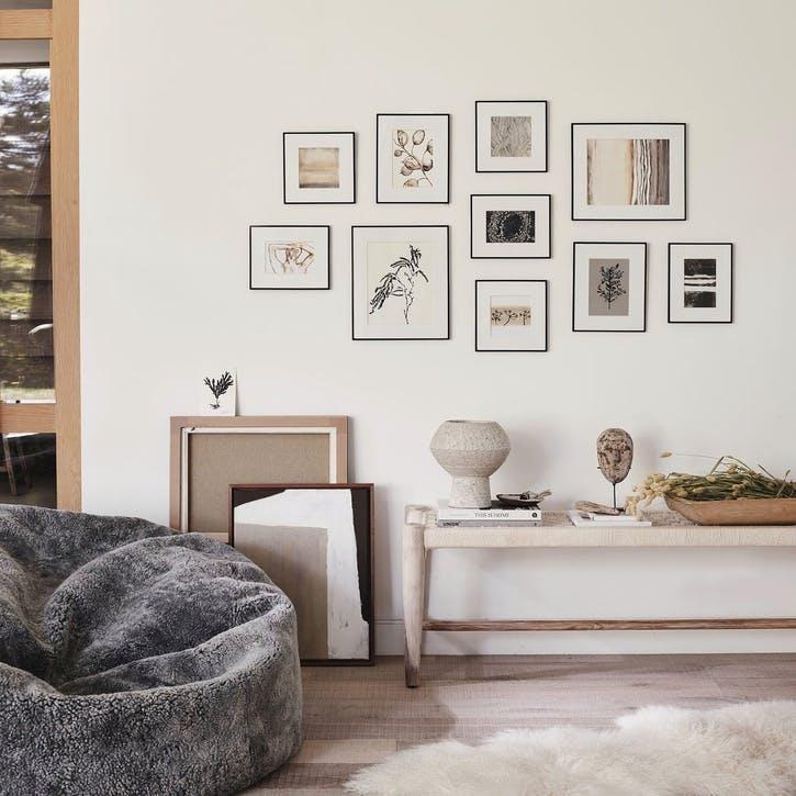 Fine Black Gallery Wall, 10 Frames