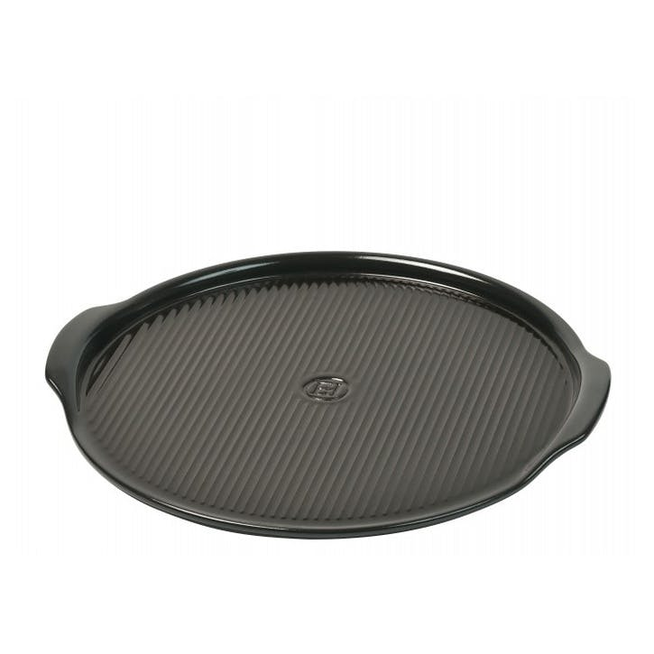 Ridged Pizza Stone - Medium; Charcoal