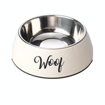 Woof 2 in 1 Dog Bowl, XL, Cream