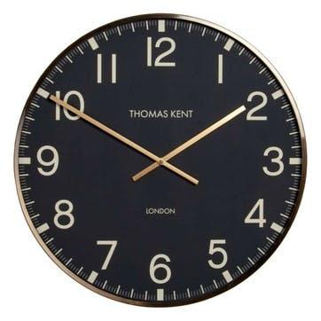 Clocksmith Clock, 53cm; Brass & Black